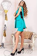 Деловой  женский  бирюзовый   костюм Ролинс  Jadone    42-50  размеры