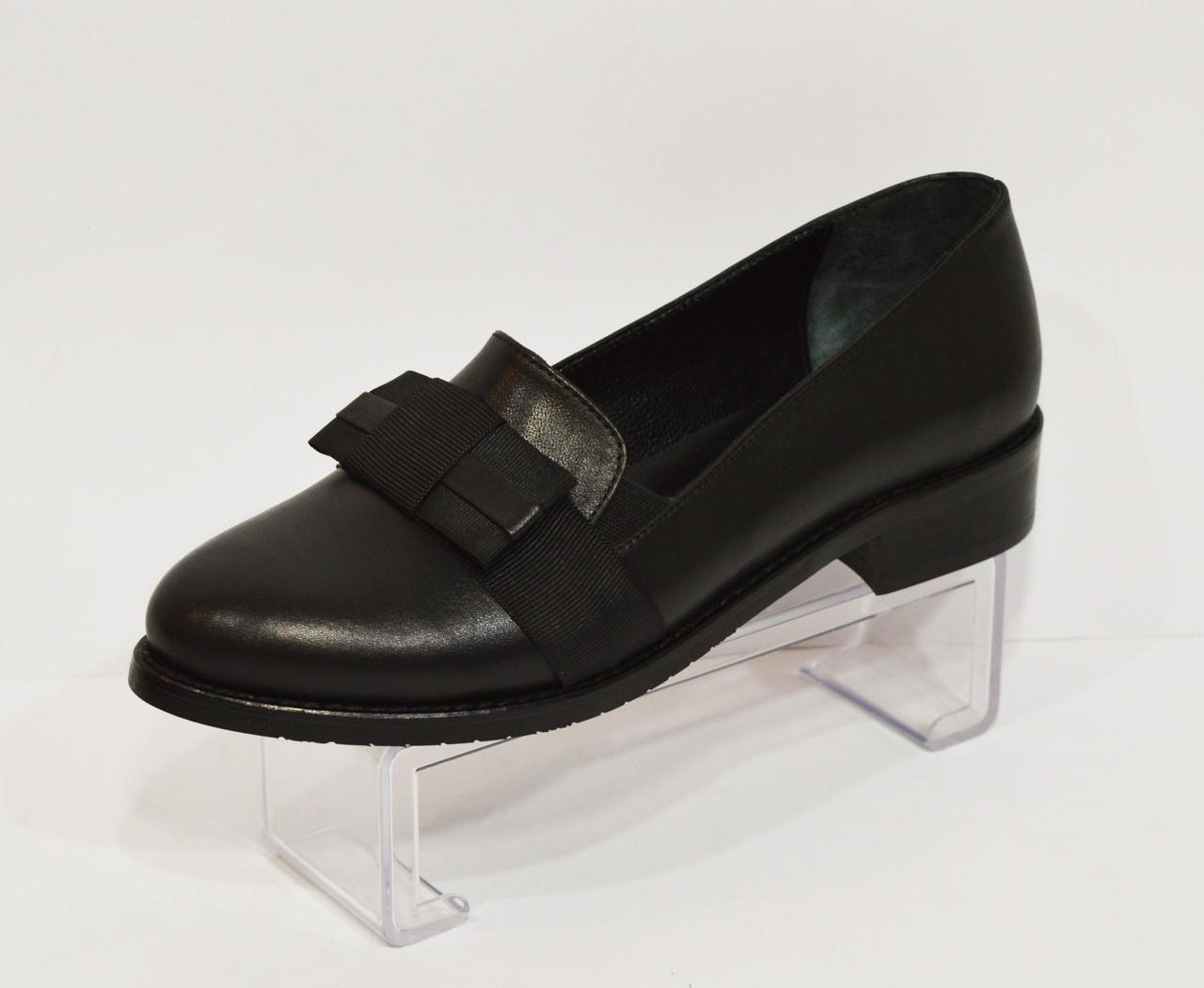 Женские черные кожаные туфли Magnolya 304