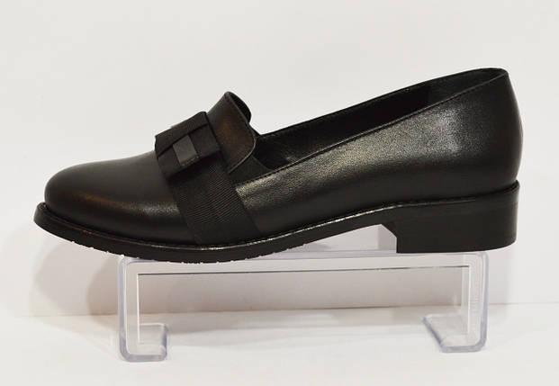 Женские черные кожаные туфли Magnolya 304, фото 2
