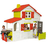 Двухэтажный домик Smoby с кухней-барбекю и звонком 320023