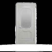 Межкомнатные двери Луидор скло Белый  Шпон дубовый