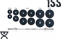 Штанга наборная олимпийская 155 кг разборная, фото 1