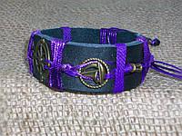 Морской кожаный браслет РОЗА ВЕТРОВ, на подарок ручная работа