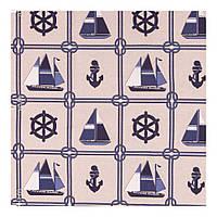 Ткань для штор в морском стиле (80% хлопок, 20% полиэстер)