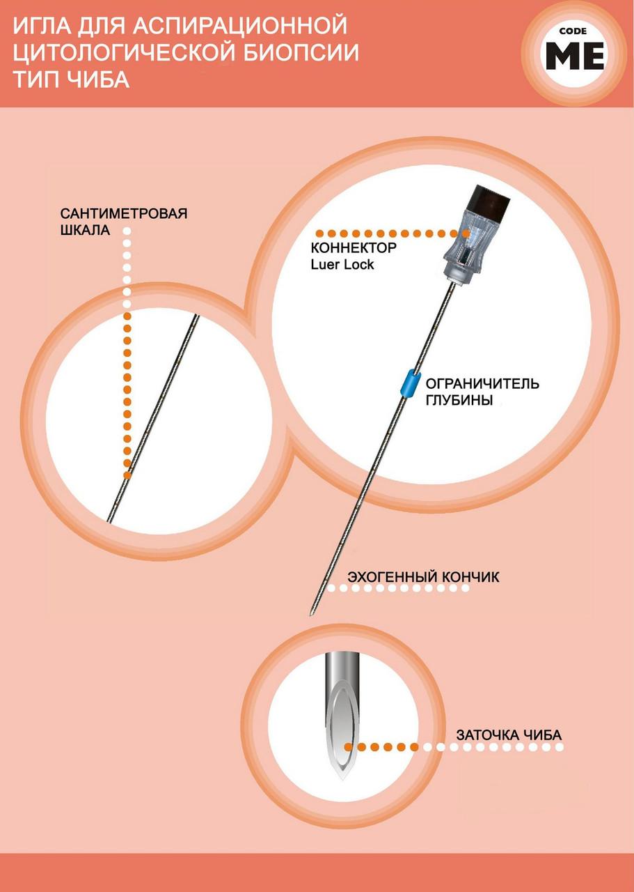 Игла для аспирационной цитологической биопсии тип Чиба