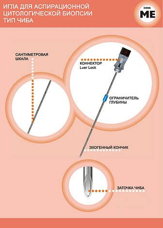 Игла для аспирационной цитологической биопсии тип Чиба , фото 2