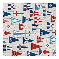 Ткань для штор с национальными флагами (75% хлоп, 25% п/э)