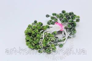 Тычинки в сахаре зеленые, 85 нитей (170 головок) в упаковке