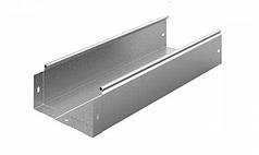 Лоток неперфорований 100х50 гарячого цинкування, метод Сендзіміра, довжина 3м