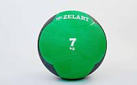 Мяч медицинский (медбол) от 1 до 10кг (верх-резина, наполнитель-песок, цвета в ассорт.) 7