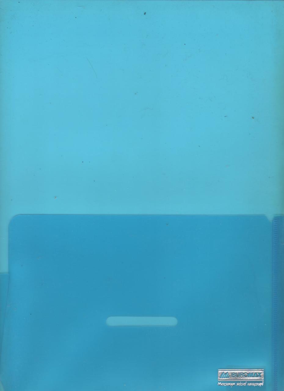 Уголок-папка-обложка глянцевый, прозрачный, 2 кармана  A4 180 мкм