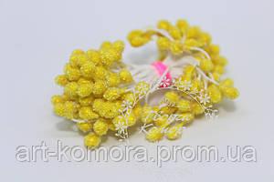 Тычинки в сахаре желтые, 85 нитей (170 головок) в упаковке