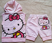 Летний костюм Hello Kitty, майка-жилетка и бриджи на 2-3 года на рост 90-98см из США