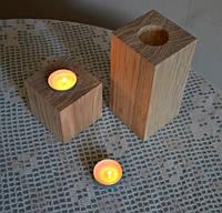 Подсвечник для чайной свечи из дерева 0601