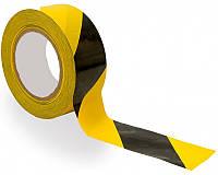 Лента сигнальная 72мм х 100м (желто-черная)