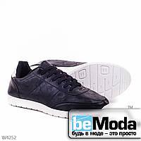Модные мужские кроссовки black классического фасона на белой подошве черные