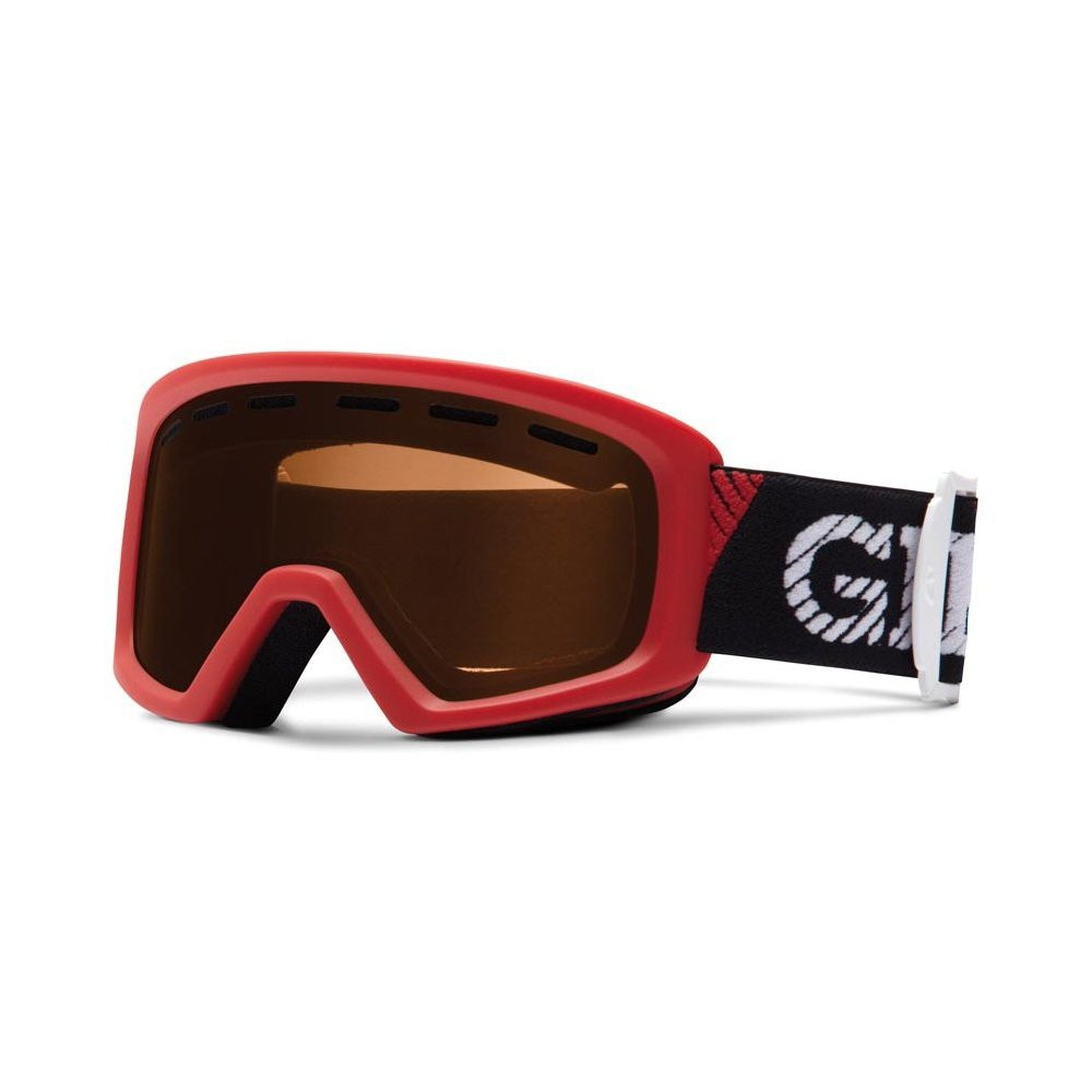 Горнолыжная маска Giro Chico красная/белое лого, красная57% (GT)