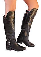 Шикарные кожаные женские сапоги-ботфорты Eye, Италия-Оригинал