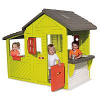 Садовый домик Smoby с кухней-барбекю и звонком 310300