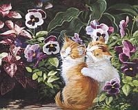 Раскраска по номерам Кошачьи нежности Худ Персис Клейтон Вейерс (BK-GX3249) 40 х 50 см