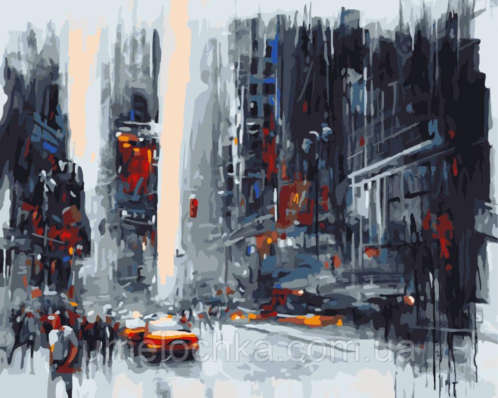 Картина раскраска по номерам без коробки Мегаполис Худ Ван Тэйм (BK-GX7325) 40 х 50 см