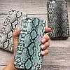 Чехол для iPhone 6/6s под змеиную кожу темно серый , фото 3
