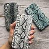 Чехол для iPhone 6/6s под змеиную кожу темно серый , фото 5