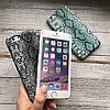 Чехол для iPhone 6/6s под змеиную кожу темно серый , фото 2