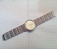 Мужские часы Rolex 3100G серебристые на металлическом браслете диаметр 37 мм