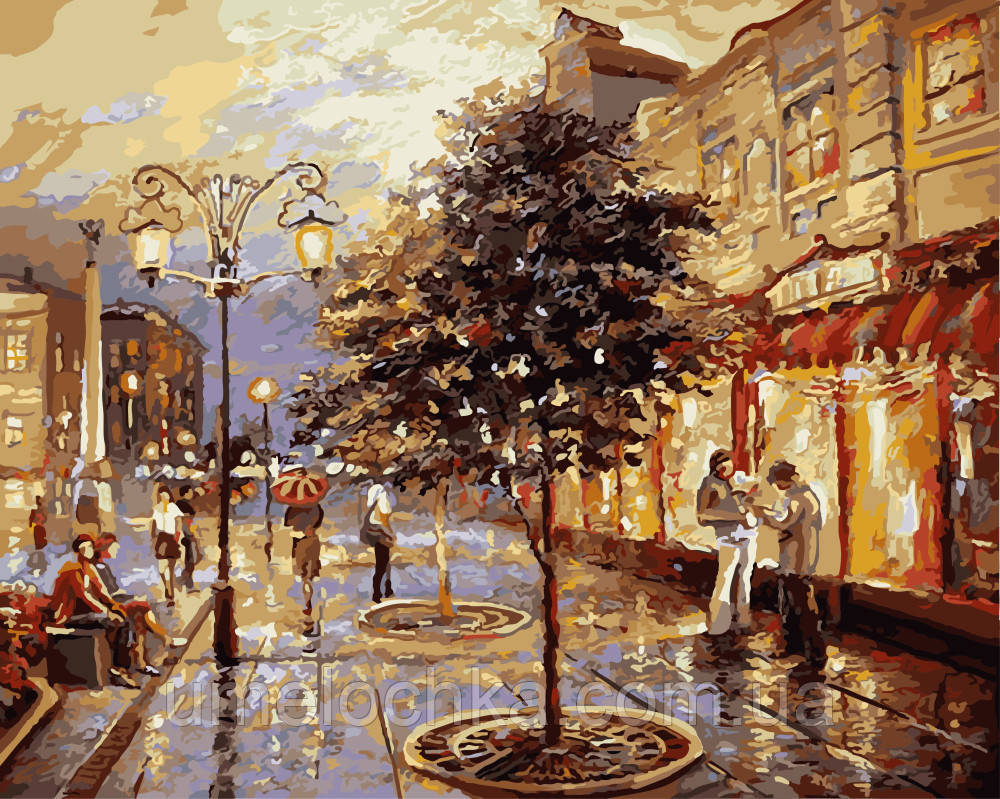 Картина по номерам без коробки Городские сумерки Худ Спирос Дмитрий (BK-GX9919) 40 х 50 см