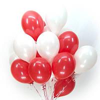 """Букет воздушных шаров """"Красно-Белый"""""""