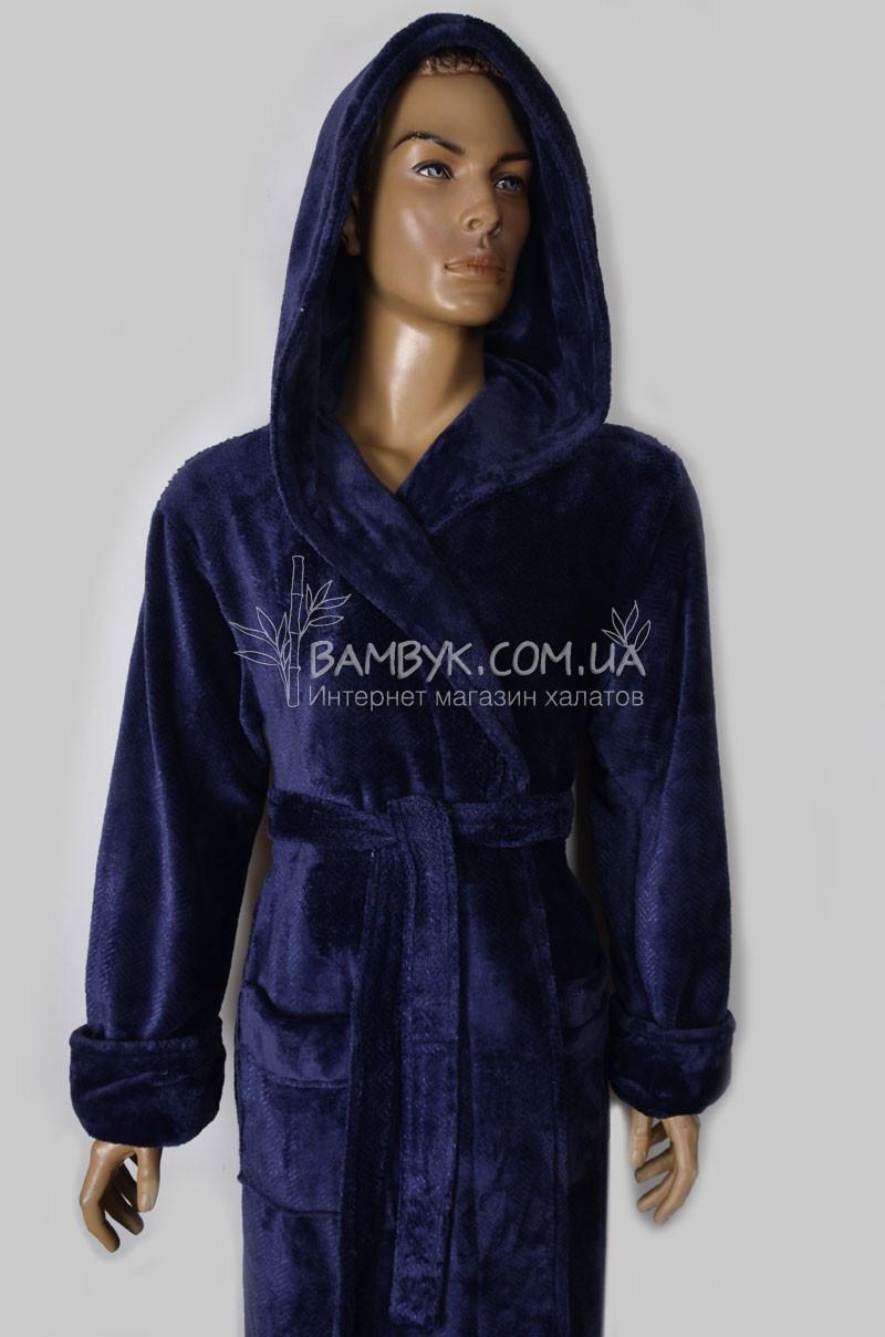 5f7057c776f4d Теплый мужской халат из микрофибры Nusa (синий) №162740: продажа ...