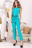 Офисный женский бирюзовый  костюм Моренго Jadone    42-50  размеры
