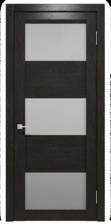 """Межкомнатные двери шпонированные дубом """"Ваш Стиль"""" модель Франк ПОО венге, бруно. Шпон дубовый"""