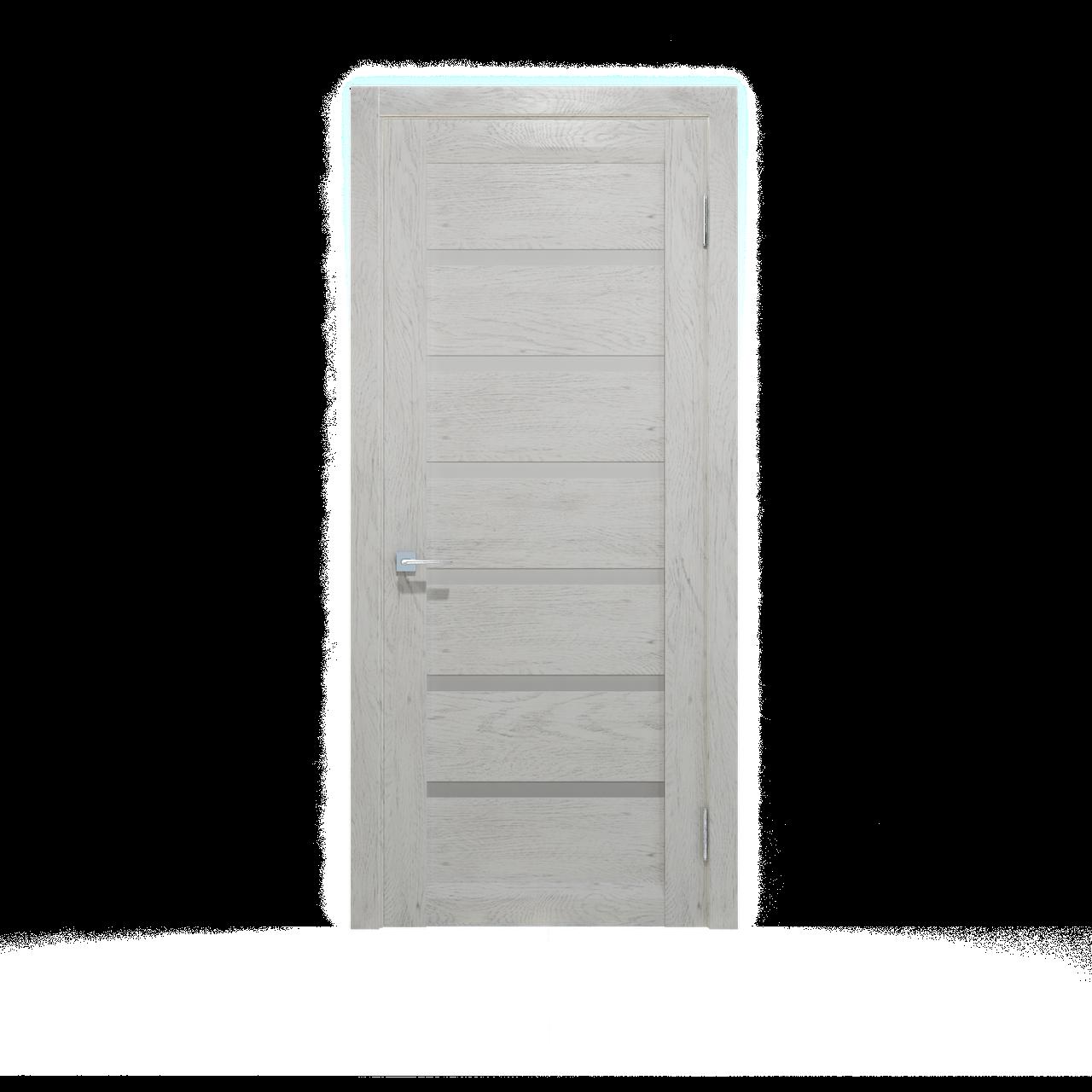 Дверное полотно Екю Белый  Шпон дубовый