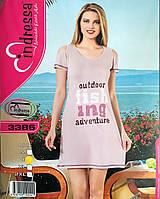 Хлопковая сорочка-туника для дома и отдыха