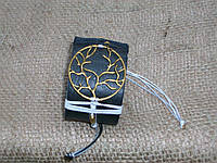 Женский браслет из кожи ДЕРЕВО ЖИЗНИ, ручная работа