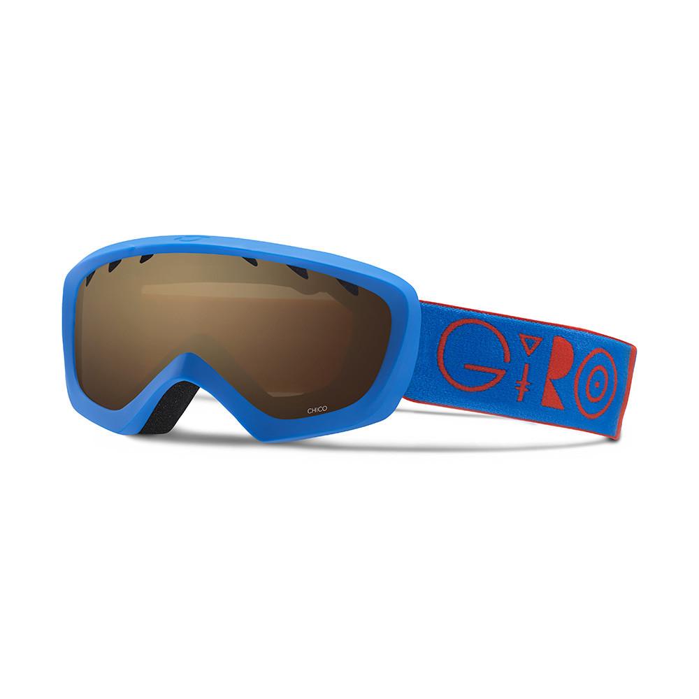 Горнолыжная маска Giro Chico синяя/красная Geo, Amber Rose 40% (GT)