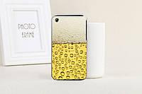 Силиконовый чехол для Iphone 3G/ 3GS с рисунком бокал пива