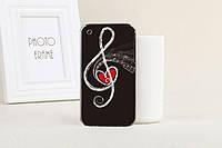 Силиконовый чехол для Iphone 3G/ 3GS с рисунком скрипичный ключ