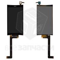 Дисплейный модуль для мобильного телефона Acer Liquid E700, черный