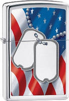 Зажигалка Zippo Flag And Dog Tags High