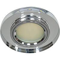 Светильник точечный Feron 8060-2 MR16 серебро серебро  с led  подсветкой  SMD3014 12leds (6500K)