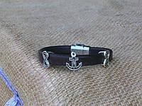 Морской кожаный браслет регализ, ручная работа