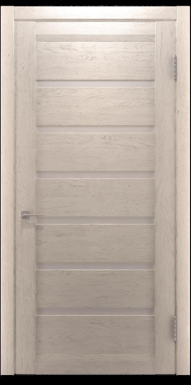 Межкомнатная дверь Екю Слоновая Кость Шпон дубовый
