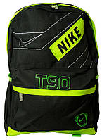 Оригинальный практичный рюкзак из текстиля 13 л. Bag 7118-H green, черный/зеленый