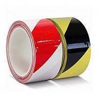 Сигнальный скотч 48мм х 33м (красно-белый)(желто-черный)