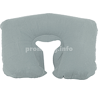Надувная подушка для путешествий, цвет серый, размер XL (26см х 40см) для женщин и мужчин