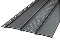 Сайдинг VOX Панель Софит (коричневый, графит) 0,81 м2