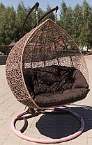 """Підвісне крісло з ротанга """"Dabl""""."""